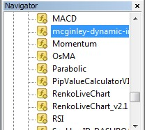 McGinley dynamic indicator installing