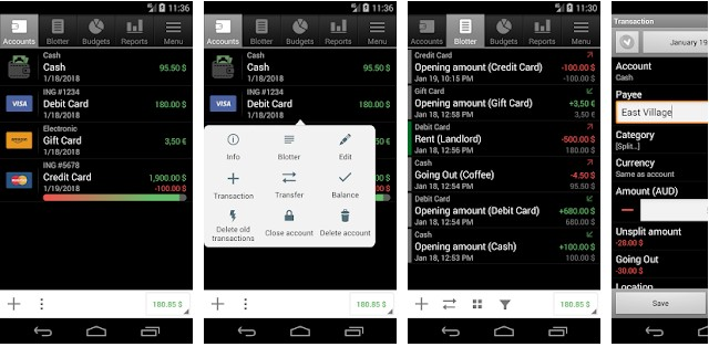 Financisto app for android