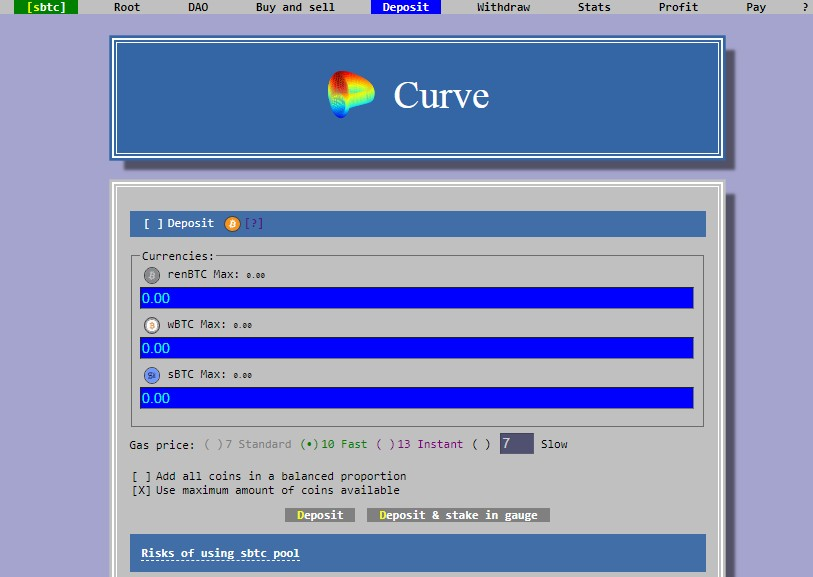 how to use curve finance